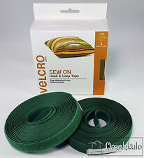 VELCRO Brand Genuine - 20mm x 5M SEW ON Hook and Loop Tape - GREEN -*