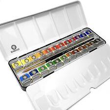 Royal Talens - Rembrandt Water Colour Paints- Metal Box of 24 Pans - De Luxe Set