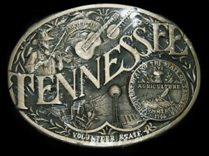 SK05164 *NOS* VINTAGE 1980s **TENNESSEE** STATE COMMEMORATIVE SOLID BRASS BUCKLE