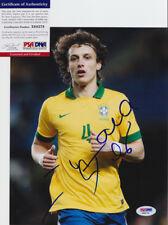 David Luiz Brazil Brasil Signed Autograph 8x10 Photo PSA/DNA COA