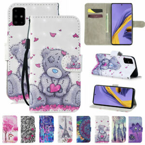 Painted PU Leather Flip Wallet Case Cover For Samsung S10 5G S20 A71 A51 A91 A70