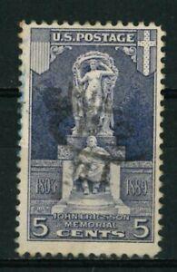 US Stamps Scott #628 - 1926 - Statue of John Ericsson, 1803-1889 - USED