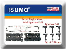 Engine Valve Cover with Gasket L/R & 6 Ignition Coil Fits: FX35 G35 M35 350Z