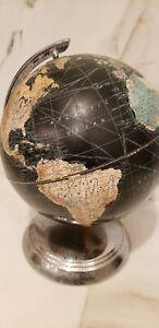"Vintage New Peerless 10"" Terrestrial Globe World Map Weber Costello Co."