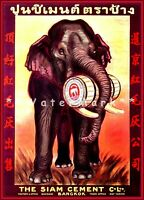 Thailand The Siam Cement Co. Vintage Poster Print Retro Style Travel Home Decor