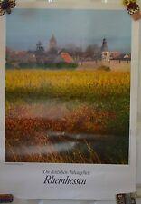 Vintage Wine Poster Die Deutschen Ambaugebiete Rheinhessen #15 Advertising