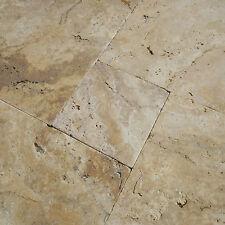 """SONDERPOSTEN """"SCABAS""""/ GOLD Travertin in Römischer Verband x 3 cm, Gehwegplatten"""