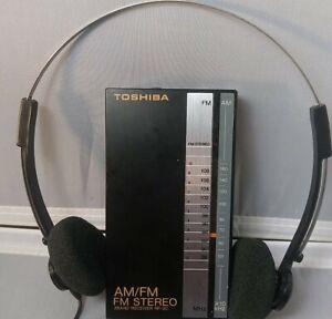 TOSHIBA AM/FM Radio Stereo Receiver RP-2018  Headphones Vintage