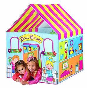 Girls Playhouse Kids Play Tent Pop Up Portable Children Doll house Pink Princess