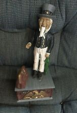 Vintage Uncle Sam Cast Iron Mechanical Bank Reproduced From The 1886 Original