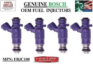 4 Fuel Injectors for Nissan & Infiniti 2.0L I4 / Purple Bosch OEM