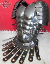 MUSCLE ARMOUR CUIRASS JACKET MOVIE_BLACK ANTIQUE FINISH_W/SHOULDERS ARMOR ITEM