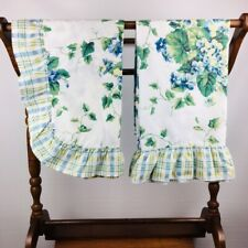 Waverly Floral Sham and Pillowcase Set Blue Green Yellow Ivy Cottage
