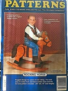 "Rocking Horse Full Size Woodcraft Patterns LC4 (C)1995 Uncut 30"" Seat 19"" high"