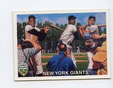 Willie Mays, Monte Irvin, Dusty Rhodes - N.Y. Giants 2002 Topps Super Teams 54'