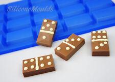 20 Cella BLU MINI BARRA CAMPIONE DOMINO Cioccolato Stampo Caramelle CAKE PAN sapone cera di sciogliersi