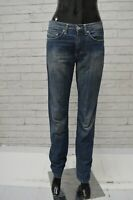 Jeans Blu Donna VERSACE JEANS COUTURE Taglia 30 Pantalone Woman Pants Elastico