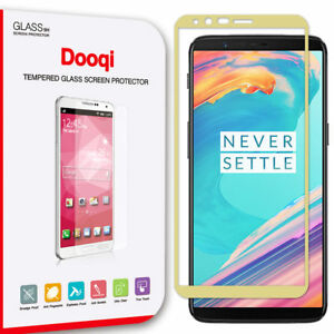 Dooqi Full Cover Tempered Glass Screen Protector Saver Shield for OnePlus 5T