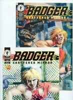 Badger Shattered Mirror #1 and #4 Dark Horse Lot of 2 Comics