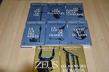 lot 6 livres Les Rois Maudits 1 2 3 4 5 6 + mémoire de Zeus 1 2 - Maurice Druon
