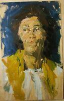 Russian Ukrainian Soviet Oil Painting impressionism female portrait woman