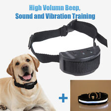 Humane No Shock Dog Bark Control Collar Vibration & Sound Training Anti Barking