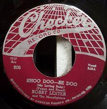Bobby Lester & Moonlighters Rare R&B Doo Wop 45 So All Alone / Shoo Doo - Be Doo