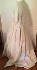 Vintage Museum Level  MILGRIM~Ivory Appliqués Embellished  Wedding Gown & Veil