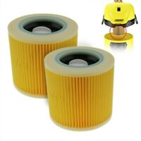 2pcs Cartridge Filter For Karcher WD2/3 Series Wet & Dry Vacuum Cleaner Washable