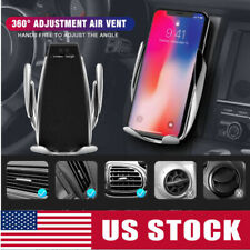 360 Rotate Infrared Sensor Auto Clamping Wireless Car Charger Mount Phone Holder