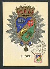 ALGERIE MK 1960 ALGER WAPPEN BLAZON MAXIMUMKARTE CARTE MAXIMUM CARD MC CM 60612
