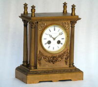 CIRCA 1880 LARGE J W MITCHELL GLASGOW CHIMING BELL ORNATE ANTIQUE MANTLE CLOCK