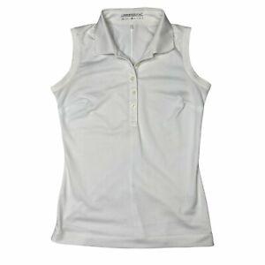 Nike Golf Dri-Fit Sleeveless Polo Golf Shirt White Womens XS