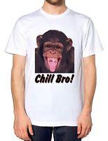 Funny Chimp Chill Bro Mens Tshirt Monkey Gorilla Ape Animal T Shirt Kids