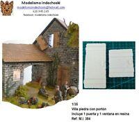 WWII casa villa piedra country 1:35 incluye puerta y ventana resina house ruins