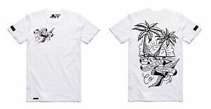 Hourless Tall Tee (T-Shirt) Mens S M L XL XXL WHITE Tattoo Afends Vans RVCA