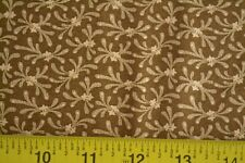 By 1/2 Yd, Tan on Brown Quilting Cotton, Andover/Morton/Sweet Emile/5320 L, B199