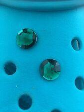 2 vert émeraude gemme chaussure charmes pour Crocs et jibbitz Bracelets. frais d'expédition gratuits R-U.