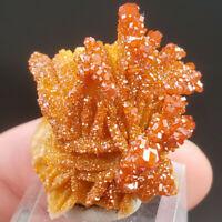 GORGEOUS 176 carat Orange Vanadinite on Barite Specimen from Mibladen Morocco