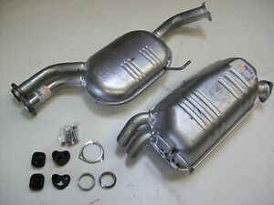 Auspuff Auspuffanlage Abgasanlage Mercedes R129 280-320SL Bj. 89- mit Anbausatz