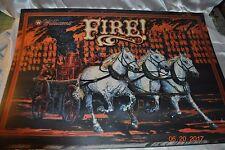 FIRE Pinball Machine Original Williams 1988 NOS Pinball Translite Backglass Art