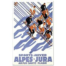 """""""Sports D'Hiver"""" Hand Pulled Lithograph (24"""" x 39"""") by the RE Society"""