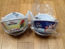 4 x Kelloggs  Cornflakes Tip & Sip cereal bowls.New sealed. Free delivery.
