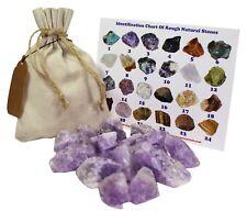 Amethyst Rough Natural Stones 1 Lb (.5 Kg) Bulk Reiki Chakra Healing Crystals M