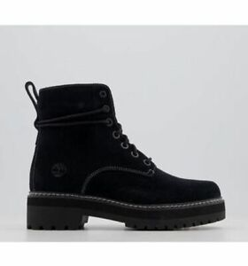 NEW TIMBERLAND LUX STACK ANKLE BOOTS BLACK SUEDE CONTRAST STITCH  UK 6 RRP 14O