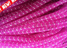 Mini Non Metallic Fuchsia with Silver Thread Cyberlox Tubular Crin 5 Yards 1/4""