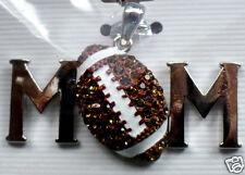MOM Football Pendant  Metal  rhinestones