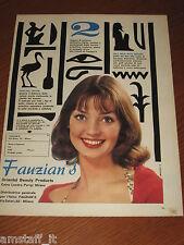 *=FAUZIAN'S CAPELLI BELLEZZA=1961=PUBBLICITA'=ADVERTISING=WERBUNG=PUBLICITE=