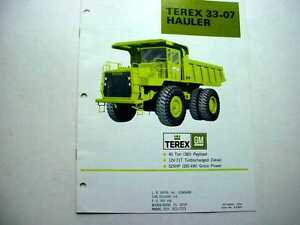 Terex 33-07 & 33-03B Hauler Truck Literature Items