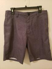 "HURLEY Shorts Men's 32"" Gray Striped Relax Casual Straight Golf"